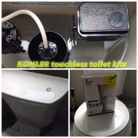 New Touchless Kohler Toilet Kit
